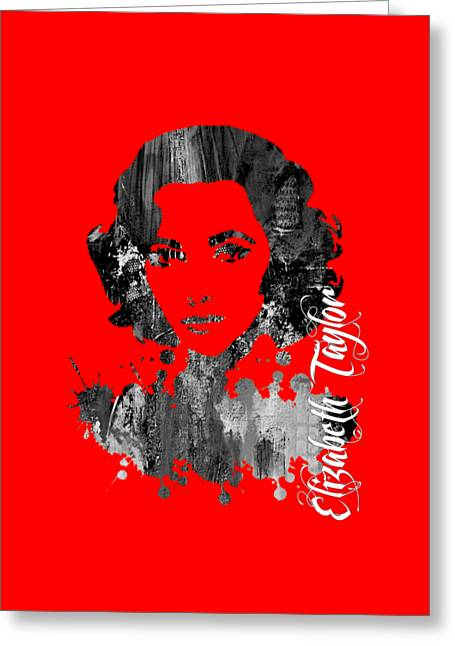 Elizabeth Taylor Collection Greeting Card by Marvin Blaine