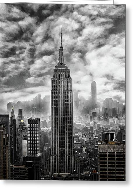 Empire State Greeting Card by Martin Newman
