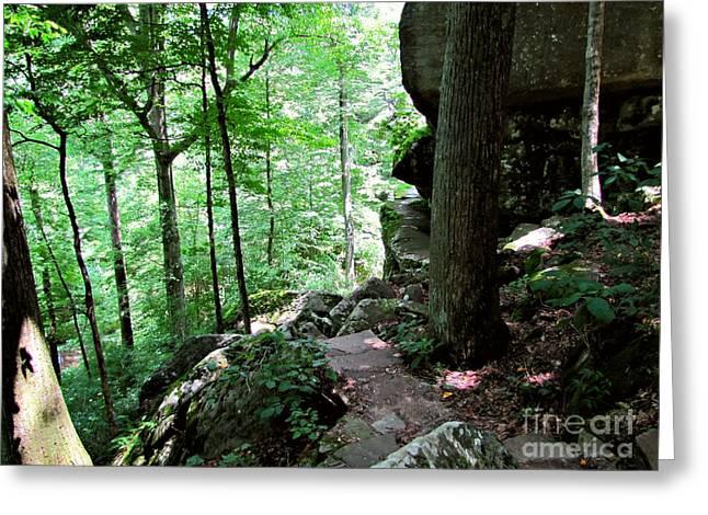 Fat Man's Misery - Rim Rock Trail - Illinois Greeting Card
