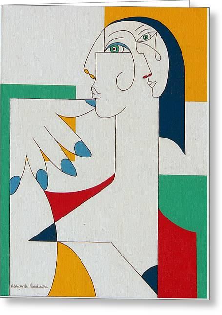 5 Fingers Greeting Card by Hildegarde Handsaeme