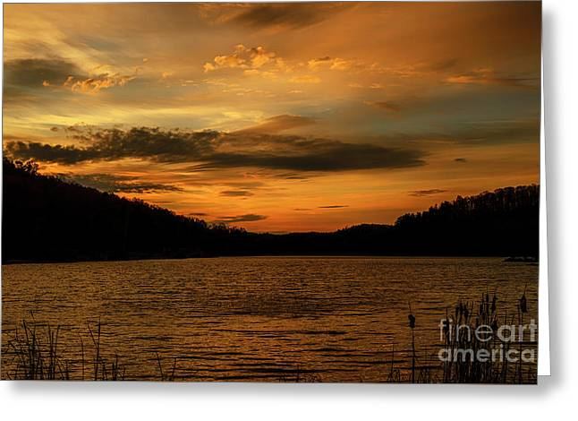 First Light On The Lake Greeting Card