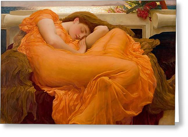 Flaming June Greeting Card