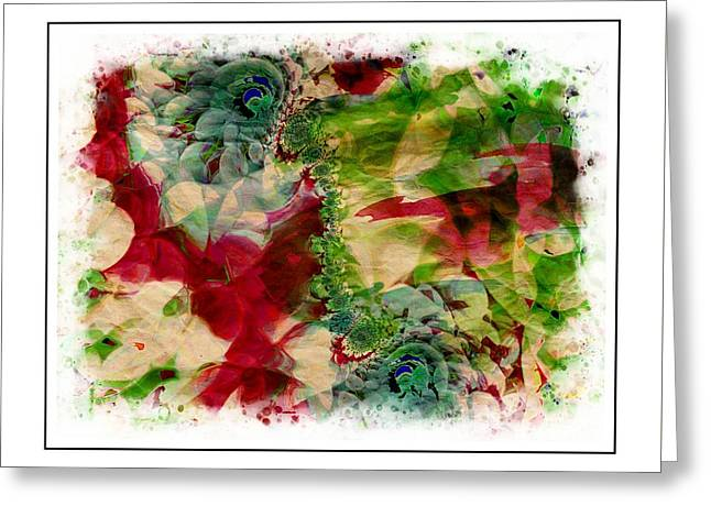 Flowers Greeting Card by Contemporary Art