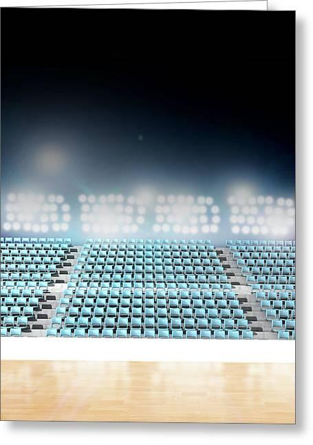 Generic Floodlit Stadium Greeting Card