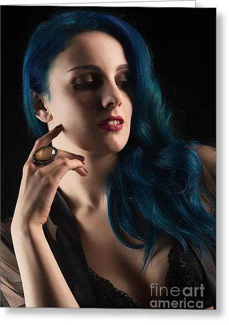 Glamorous Woman Greeting Card by Amanda Elwell