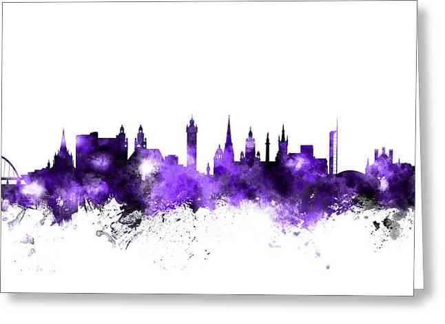 Glasgow Scotland Skyline Greeting Card