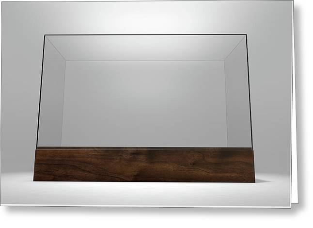 Glass Display Case Greeting Card by Allan Swart