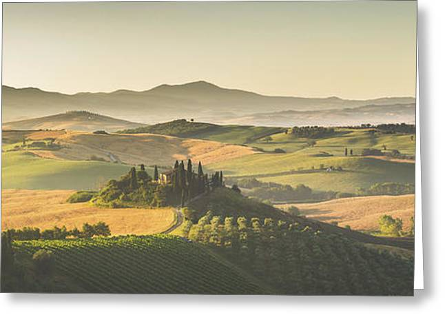 Golden Tuscany Greeting Card by JR Photography