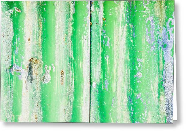 Green Metal Greeting Card by Tom Gowanlock