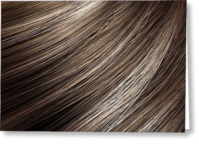 Hair Blowing Closeup Greeting Card by Allan Swart