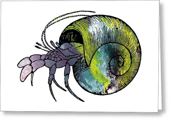 Hermit Crab Greeting Card by Mordax Furittus