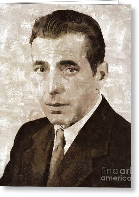 Humphrey Bogart Vintage Hollywood Actor Greeting Card