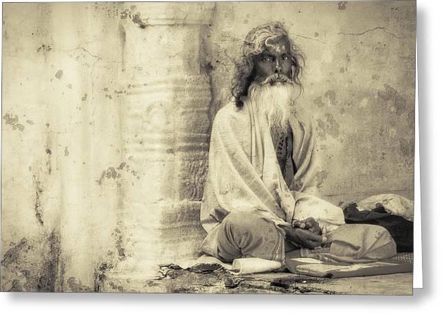 Indian Sadhu Greeting Card by Artur Pirant