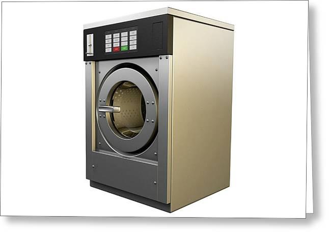 Industrial Washing Machine Greeting Card