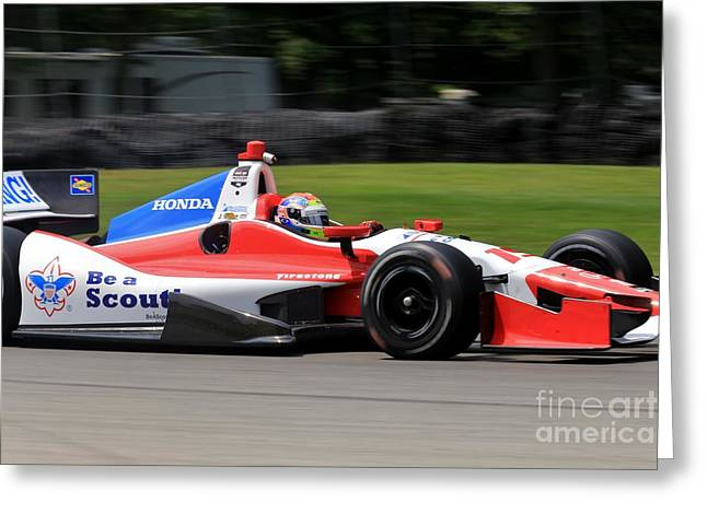 Indycar Open Wheel Racing Greeting Card by Douglas Sacha