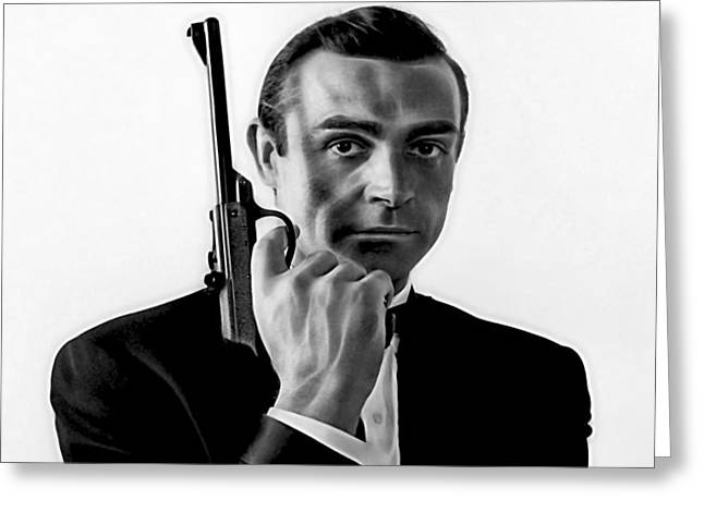 James Bond Collection Greeting Card by Marvin Blaine