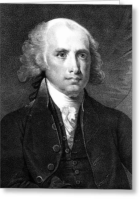 Democratic Republican Greeting Cards - James Madison (1751-1836) Greeting Card by Granger