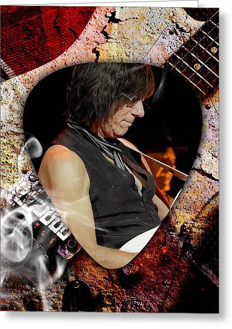 Jeff Beck Guitarist Art Greeting Card by Marvin Blaine