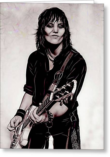 Joan Jett Collection Greeting Card by Marvin Blaine