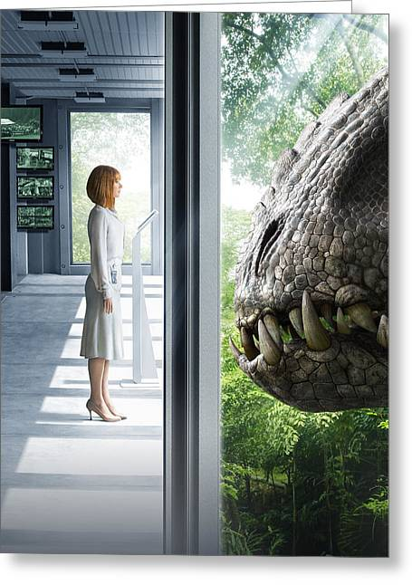 Jurassic World 2015  Greeting Card