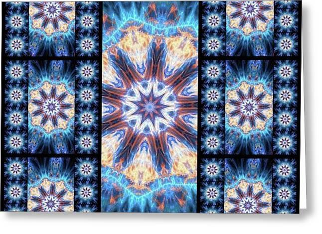 #kaleidoscope #mandala #art #digitalart Greeting Card by Michal Dunaj