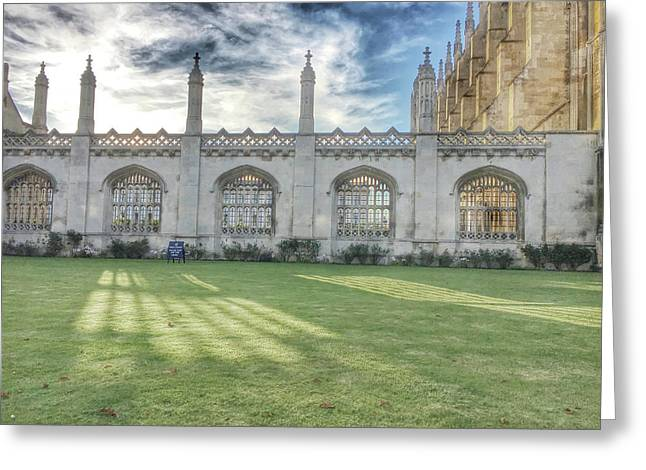 King's College Cambridge Greeting Card by Tom Gowanlock