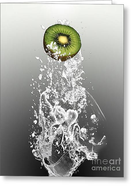 Kiwi Splash Greeting Card by Marvin Blaine