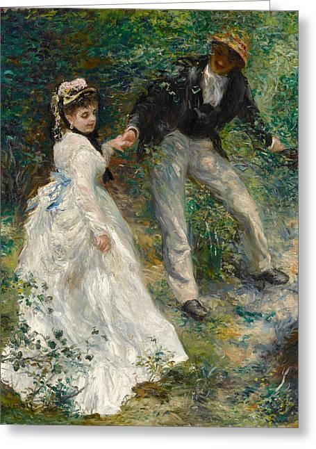 La Promenade Greeting Card by Pierre-Auguste Renoir