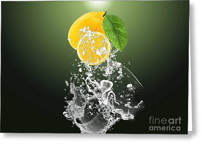 Lemon Splast Greeting Card by Marvin Blaine