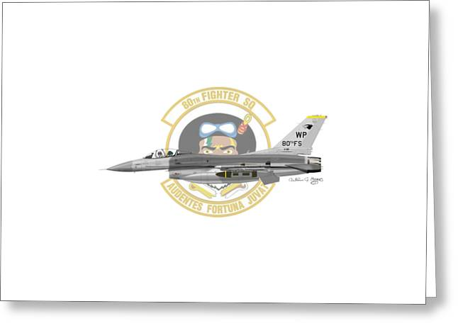 Lockheed Martin F-16c Viper Greeting Card