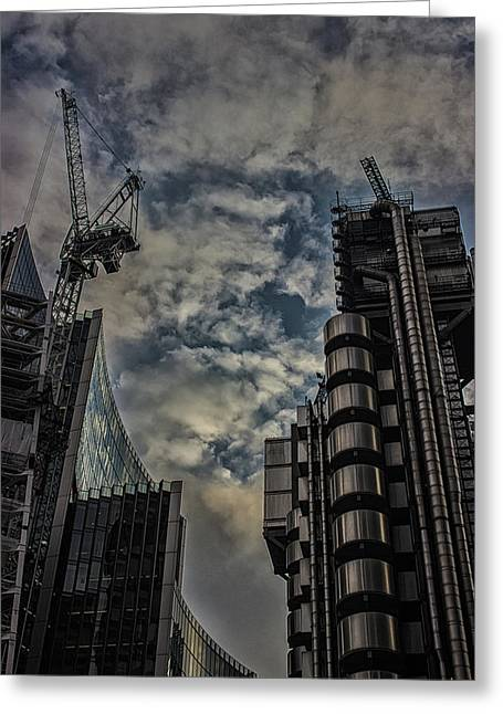 London Architecture Greeting Card by Martin Newman
