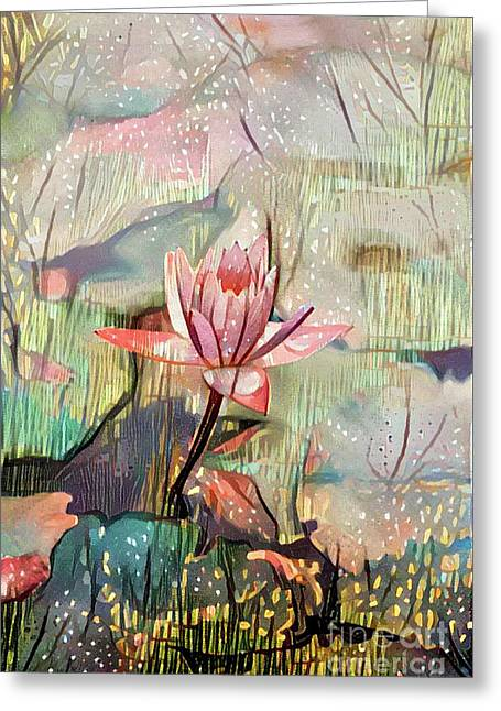 Lovely Waterlilies Greeting Card