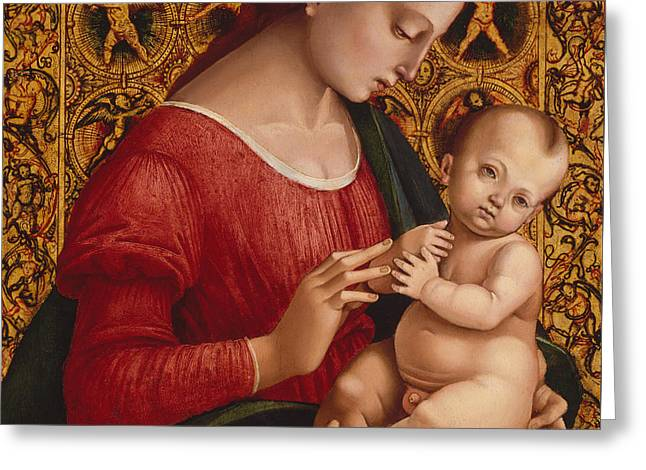 Madonna And Child Greeting Card by Luca Signorelli