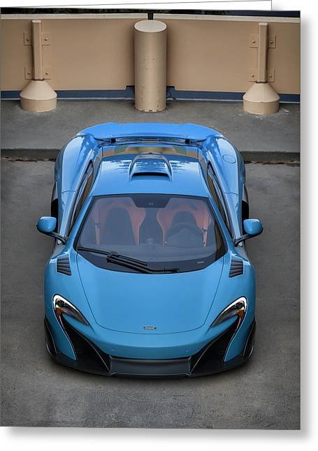 #mclaren #675lt #print Greeting Card