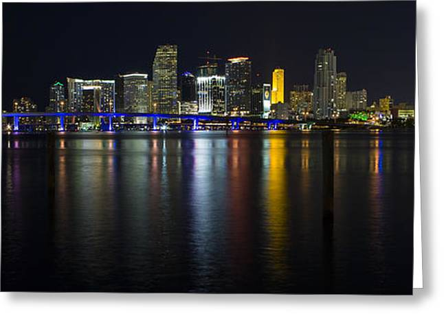 Miami Downtown Skyline Greeting Card by Raul Rodriguez