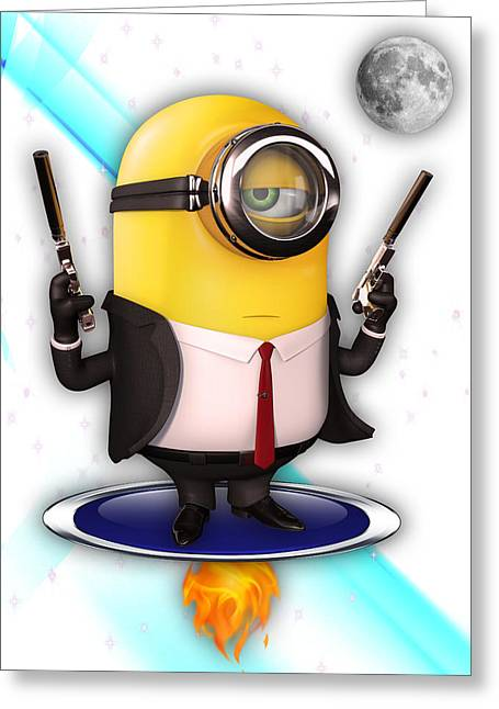 Minions Collection Greeting Card by Marvin Blaine