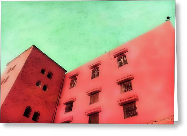 Moroccan Building Greeting Card by Tom Gowanlock