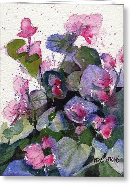 My Annual Begonias Greeting Card by Kris Parins