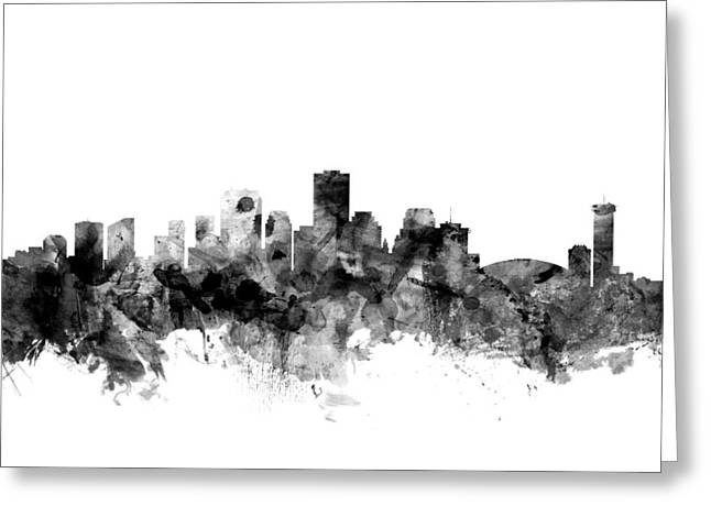 New Orleans Louisiana Skyline Greeting Card by Michael Tompsett
