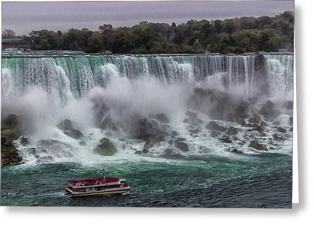 Niagara Falls Greeting Card by Martin Newman