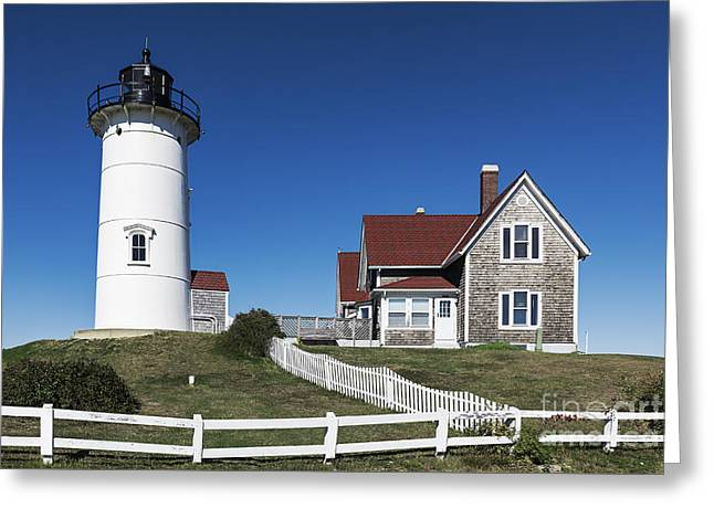 Nobska Point Lighthouse Greeting Card by John Greim