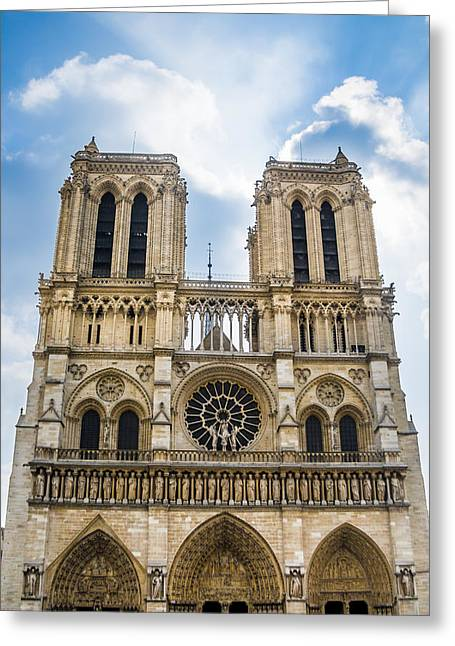 Notre Dame Cathedral In Paris Greeting Card by Nila Newsom