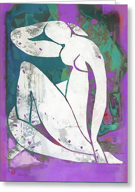 Nude Pop Art Poster Greeting Card
