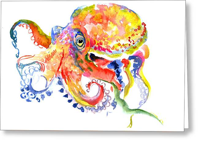 Octopus Greeting Card by Suren Nersisyan