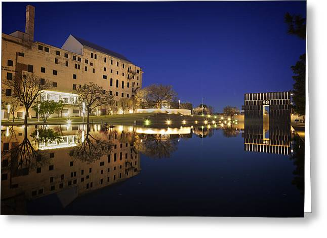 Oklahoma City National Memorial Greeting Card by Ricky Barnard
