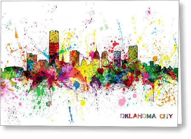 Oklahoma City Skyline Greeting Card