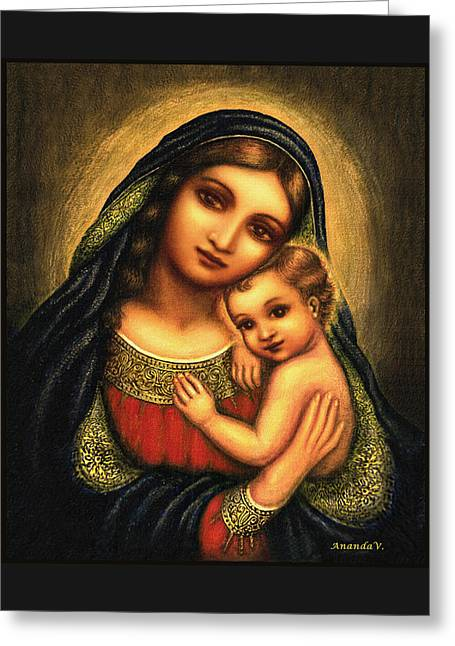 Oval Madonna Greeting Card