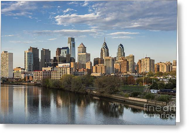 Pa.pennsylvania Greeting Cards - Philadelphia Skyline Greeting Card by John Greim