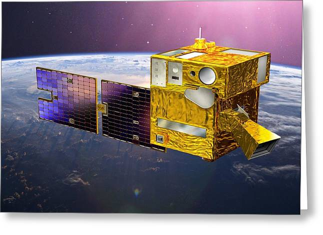 Picard Satellite, Artwork Greeting Card