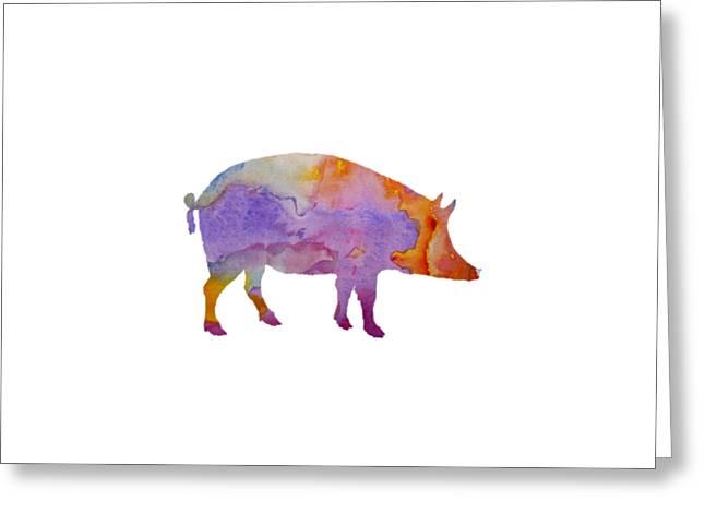 Pig Greeting Card by Mordax Furittus